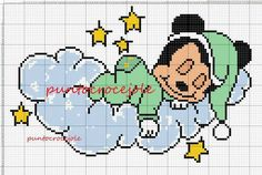 Mickey Mouse x-stitch Crochet, Baby Blanket Crochet, Cross Stitch Kits, Cros. : Mickey Mouse x Cross Stitch Baby, Cross Stitch Kits, Cross Stitch Patterns, C2c Crochet Blanket, Crochet Baby Beanie, Baby Motiv, Christmas Cross, Disney Christmas, Mickey Mouse