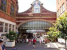 Entrance to Royal station, Windsor, England.