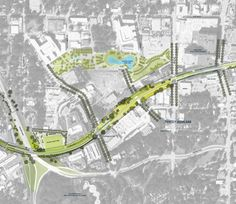 The Atlanta BeltLine is an infrastructure framework around which the urban core of Atlanta will grow by as many as people. This loop of old railroads is being transformed into a transit greenway that combines light-rail transit, parks Landscape Drawings, Architecture Drawings, Landscape Architecture, Green Corridor, Atlanta Beltline, Park Landscape, Landscape Design, Atlanta Usa, New Urbanism