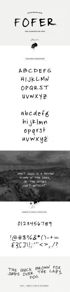 Angie Raess // Fofer free font