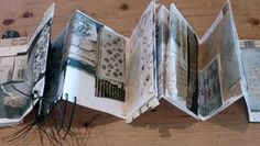 7/ My concertina sketchbook shows the development of my work in this project, bringing together the different strands of research and experimental sampling with recycled materials informed by the pieces I saw at the Pitt Rivers Museum.