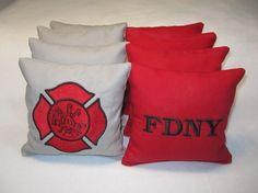 FDNY Cornhole  Bags-Set of 8