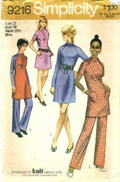 Simplicity 9216 Sewing Pattern Misses Retro Mini-Dress & Pants Size 12 - Bust 34 Simplicity http://www.amazon.com/dp/B003JO3H4U/ref=cm_sw_r_pi_dp_Y8tswb1EBP5WT