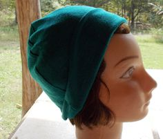 STRETCH KNIT Womens TURQUOISE Metallic Thread Helmet by silcoon52
