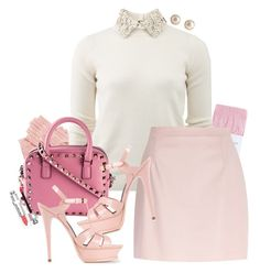 """Scream Queens."" by samhoran95 ❤ liked on Polyvore featuring Johnstons, Valentino, River Island, Yves Saint Laurent, YooLa, Christian Dior and ScreamQueens"