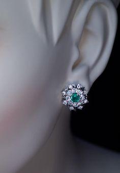 by Austrian maker Anton Heldwein, Vienna, circa The earrings are crafted i. - by Austrian maker Anton Heldwein, Vienna, circa The earrings are crafted in white gold. Sapphire Jewelry, Emerald Earrings, Antique Earrings, Antique Jewelry, Vintage Jewelry, Drop Earrings, Gems Jewelry, Body Jewelry, Bridal Jewelry