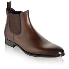 To Boot New York's Toby mens Chelsea boot in Luxurious Dark Brown Italian calfskin on a Blake-stitched leather sole is the cornerstone of a well-dressed man's fall wardrobe. Chelsea Boots Outfit, Chelsea Shoes, Black Chelsea Boots, Dark Brown Shoes, Brown Leather Ankle Boots, Leather Shoes, Big Men Fashion, Mens Boots Fashion, Mens Shoes Boots