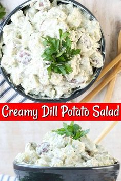 The Best Creamy Dill Potato Salad is the ultimate side dish for any summer cookout, picnic or backyard barbecue. Best Side Dishes, Side Dish Recipes, Easy Dinner Recipes, Potato Salad Dill, Dill Potatoes, Retro Recipes, Ethnic Recipes, Healthy Vegetables, Veggies