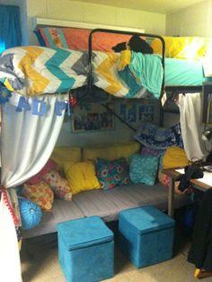 Dorm Decor Take 2! Top comforter from Target!!