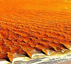 Sand dunes in Namibia.