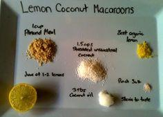lemon coconut macaroons Paleo dessert paleo cookies