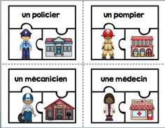 Learn French Videos For Travel Community Helpers Kindergarten, Kindergarten Social Studies, Social Studies Activities, Teaching Social Studies, How To Speak French, Learn French, Study French, Core French, French Class