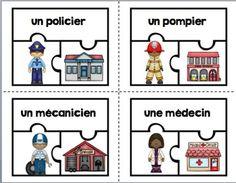 FRENCH COMMUNITY HELPER {FREEBIE}/ ENSEMBLE COMPLéMENTAIRE LES MéTIERS - TeachersPayTeachers.com
