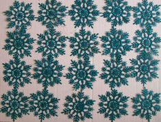 20 SNOWFLAKES CHRISTMAS ORNAMENTS - TEAL * Visit the image link more details.