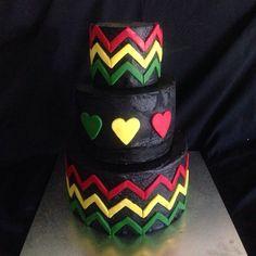 Rasta Reggae Vegan Cake