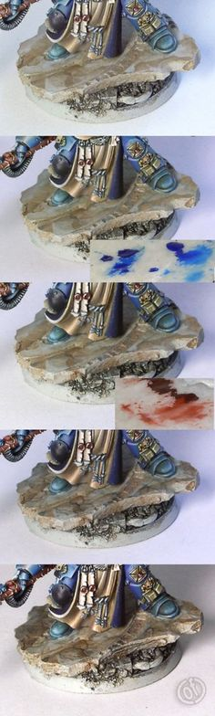 How to paint marble bases