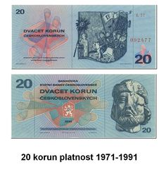 20 korun 1971-1991