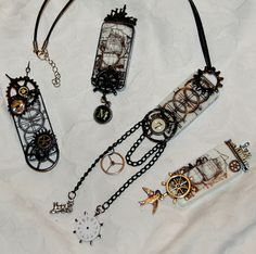 Altered Dominoes done in a steampunk style these are soo cool