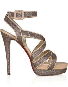 Shiny 5 1/2'' High Heel Platform Paillette Fashion Shoes