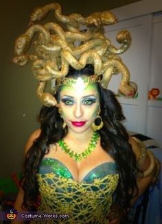 Glam Medusa - Halloween Costume Contest at Costume-Works.com  sc 1 st  Pinterest & Coolest Handmade Medusa Costume | Pinterest | Medusa Costumes and ...
