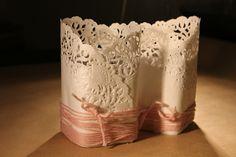 DIY: Bougies de table enrobées de napperon