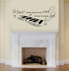 Music Soul Life Vinyl Wall Art Decal Home Decor by StuckOnWalls