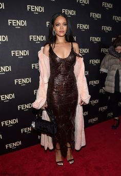 Rihanna at the opening of the New York flagship store for Fendi in New York City (February 2015). #rihanna
