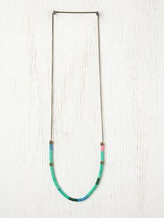 Neon tide necklace