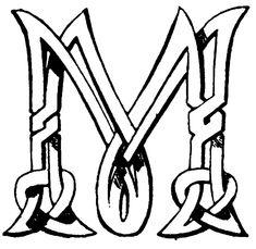 Typeface clipart letter m monogram . Irish Tattoos, Celtic Tattoos, M Monogram, Monogram Design, Celtic Patterns, Celtic Designs, Celtic Symbols, Celtic Art, Dream Catcher Tattoo Small