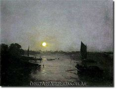 J.W.Turner | Moonlight, a Study at Millbank, 1797 - Direct Art Australia,  Price: $199.00,  Availability: Delivery 10 - 14 days,  Shipping: Free Shipping,  Minimum Size: 50 x 60 cm,  Maximum Size : 100 x 150 cm,   View the artwork before it is sent!   www.directartaustralia.com.au/