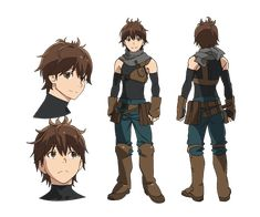 Haruhiro (Hai to Gensou no Grimgar) Image - Zerochan Anime Image Board Character Model Sheet, Fantasy Character Design, Character Creation, Character Design Inspiration, Character Concept, Character Art, Concept Art, Manga Anime, Fanarts Anime
