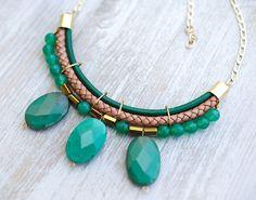Green Grass Necklace by Pardes por pardes en Etsy