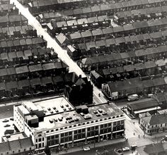 Parrish's Store, Shields Road/Brinkburn Street by Newcastle Libraries Blaydon Races, North East England, Local History, Aerial View, Old Photos, Terrace, Past, Street