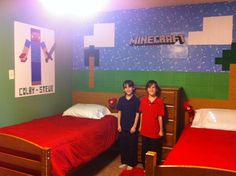 Kids Bedroom Minecraft minecraft bedroom with nether portal | huntsville - kids bedroom