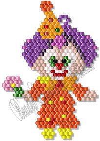 Clownin' Around Earring Pattern at Sova-Enterprises.com