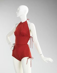 Claire McCardell (American, 1905–1958). Bathing suit, ca. 1957. American. Brooklyn Museum Costume Collection at The Metropolitan Museum of Art, Gift of the Brooklyn Museum, 2009; Gift of S. Capezio Inc., 1966 (2009.300.3849)