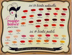 Gruau - Le Rouge baiser permet le baiser: Feu, Vison, Chaudron, Pivoine, Vénitien, Pois de senteur, Dahlia, Myosotis... Dahlia, Images Vintage, Vintage Makeup, Vintage Couture, Lip Service, Fashion Story, Hello Gorgeous, Vanity Set, Beauty Makeup
