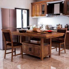Build Kitchen Island, Kitchen Island Decor, Modern Kitchen Island, Stylish Kitchen, Modern Farmhouse Kitchens, Cool Kitchens, Kitchen Redo, Furniture Deals, Kitchen Furniture