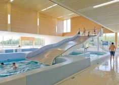 Interior of swimming pool complex by Slangen+Koenis Architecten
