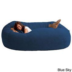 Media Room - FufSack Memory Foam Microfiber 7-foot XXL Bean Bag Chair - Overstock™ Shopping - Big Discounts on Bean & Lounge Bags
