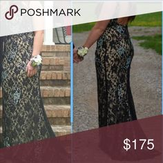 Prom dress Size 10 black & tan prom dress. Only wore for about an hour, needing gone ASAP Dresses Prom