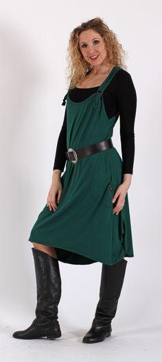 Zelená šatová sukně