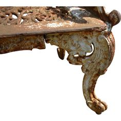 Cast Iron Garden Bench in the style of Kramer Bros, Dayton Ohio in the pattern referred to as the White House Rose Garden Bench Late 19th c.  found at www.rubylane.com @rubylanecom