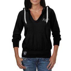 Touch by Alyssa Milano Oakland Raiders Ladies In the Bleachers Pullover Hoodie Sweatshirt - Black