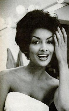 Helen Williams, America's first successful Black model, 1950s.