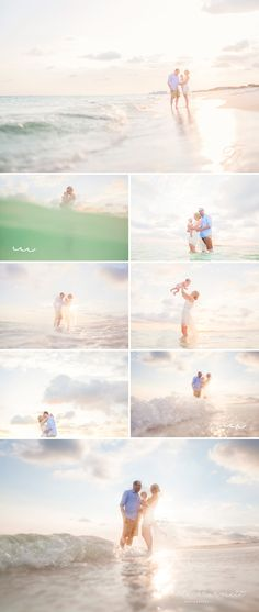 Beach Photographer in Santa Rosa Beach | Water and Light | Beach Photo Inspiration| Family Posing| Dreamy beach photos |Candid Family Beach Session © Nichole Burnett Photography