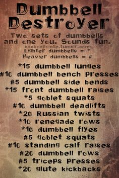This is a great workout