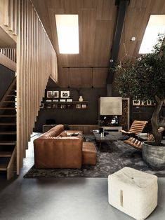 This wooden cottage in the woods in Sweden looks like a typical Scandinavian house: black facade, simple shape, small size. But the interior spaces are ✌Pufikhomes - source of home inspiration