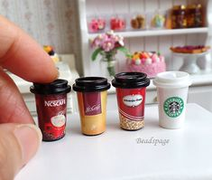 Miniature Food Cafe Take-out Coffee Beverage Party Picnic Dolls Fake food for 1:6 scale & 1/8 scale (see item details)