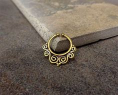 Fake Septum Ring Non Pierce Antique Gold SeptumAlso by Purityjewel
